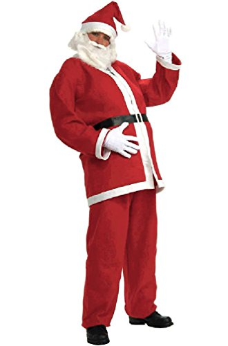 [8eighteen Simply Santa Adult Costume (2XL)] (Plus Size Simply Santa Costumes)