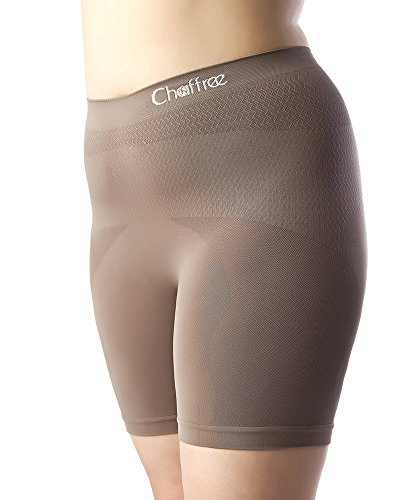 Chaffree Womens Anti Chafing Knickers, Plus Size Short Leg Underwear Prevent Thigh Rubbing, Breathable Sweat Control Briefs, Seamless Ladies Slipshort Panties, 1Pck (2XL; Waist-Full; Leg Short, Brown)