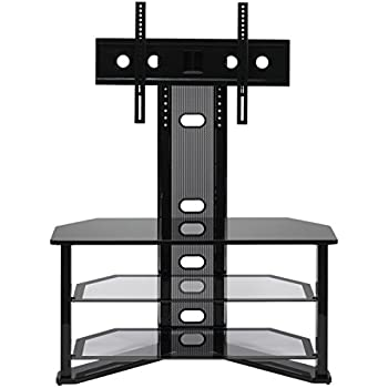 z line designs madrid flat panel tv stand with integrated mount home audio theater. Black Bedroom Furniture Sets. Home Design Ideas