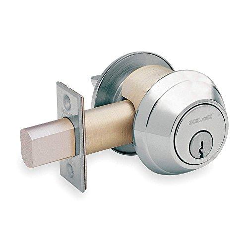 Schlage B660P-626 Grade 1 Deadbolt-Single Cylinder, 626 - Satin Chrome, 2-3/4'' Backset, Non Handed, Steel; Zinc; Brass by Schlage Lock Company