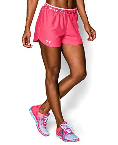 Under Armour Womens UA Play Up Shorts Medium PINK SHOCK