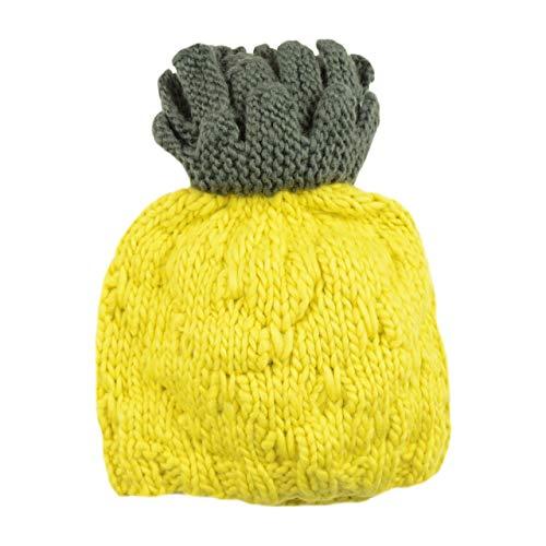Carmen Pineapple Hand Knit Hat (Medium 2-5 years, Yellow)