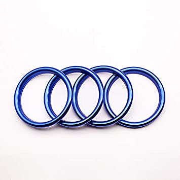 4pcs Car Interior Air Vent Outlet Ring Cover Trim For Audi A3 S3 Decorative ring
