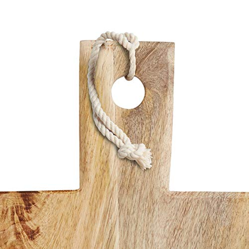 Kitchen Craft MCWW37 Plateau de Service Master Class 49,5x18x1,5cm Blanc et Brun 28 x 28 x 18 cm Bois de Mango et marbre