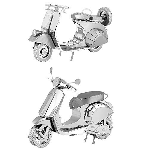 Fascinations Metal Earth 3D Metal Model Kits Vespa Set of 2 Primavera 150 - Classic 125 - Metal Classic Model Kit