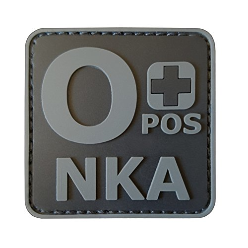 LEGEEON ACU Subdued OPOS O+ NKA Blood Type No Known Allergies Morale PVC Rubber Touch Fastener Patch