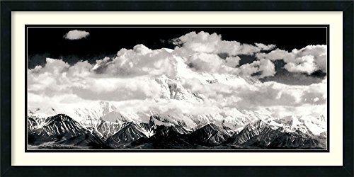 Framed Art Print, 'Mount McKinley Range, Clouds, Denali National Park, Alaska, 1948' by Ansel Adams: Outer Size 39 x - Park National Range Clouds Denali