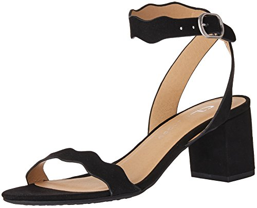 Women's Black Chinese Suede Jessenia CL Laundry Sandal Heeled by 0zP5H5wxqt