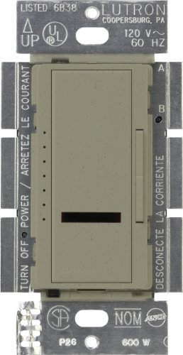 Lutron Lutron MIRLV-600-GB Maestro IR 450-Watt Single Pole Magnetic Low-Voltage Dimmer, Greenbriar