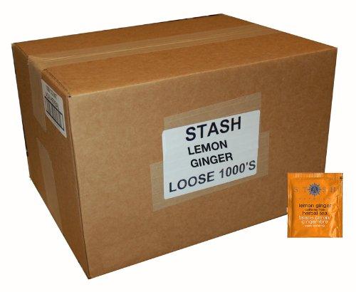 Stash Tea Lemon Ginger Herbal Tea, 1000 Tea Bags in 8.12 Pound Box