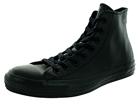Converse Unisex Chuck Taylor All Star Leather Shoes, Black Mono Leather, Men's 10.5 (Converse Donna All Star Hi)
