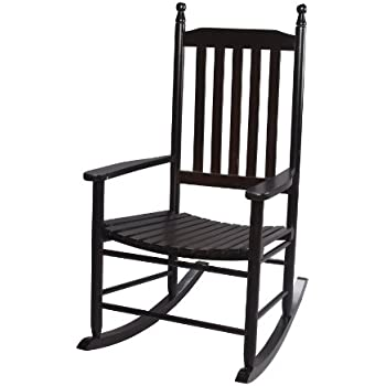 Amazing Gift Mark Adult Tall Back Rocking Chair, Espresso