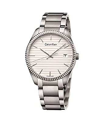 Calvin Klein K5R31146 Silver Stainless Steel Bracelet White Dial Men's Watch
