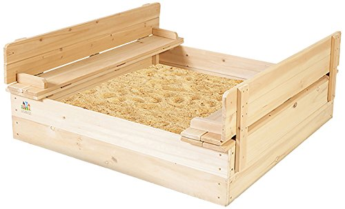 Outward Play Strongbox Square Sandpit Outdoor Sand Box by Outward Play