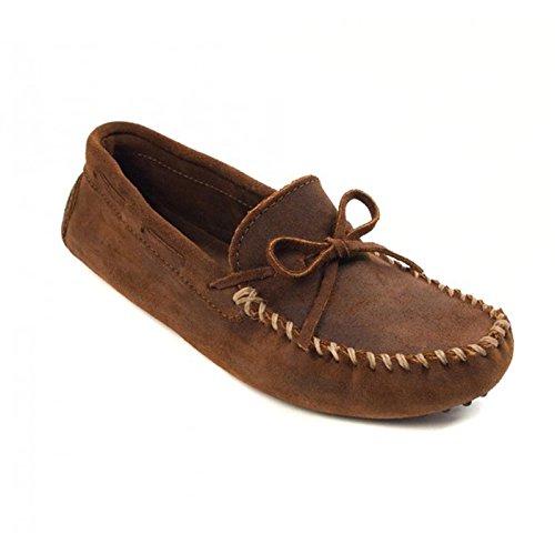 Minnetonka - Mocasines de Piel para hombre Marrón marrón Marrón - marrón oscuro