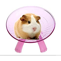 URToys 18cm Pink Samll Animals Hamster Running Disc Flying Saucer Exercise Wheels Animal Toys For Mice Dwarf Hamsters