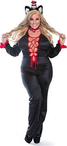 Cat In The Hat Sexy Costumes (Plus size Sexy Cat in The Hat Costume 12x)