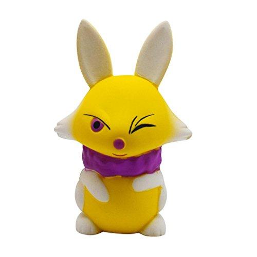 Lifestyler Simulation Cartoon Fox Squishy Slow Rising Cream Scented Decompression Toys Yellow