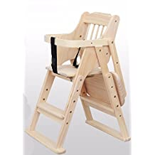BEEST-Highchairs baby child eat wood folding chair seat multifunctional portable baby chair,Lift,Paint free