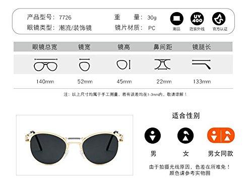 de de Noir métallique retro B en soleil rond style polarisées inspirées Morceau Frêne Lennon du vintage lunettes cercle 4q1C6wq
