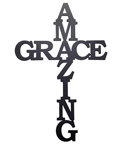 - High Bar Retail LLC (Generic) Amazing Grace Large Cross Wall Art Sign, 20.5