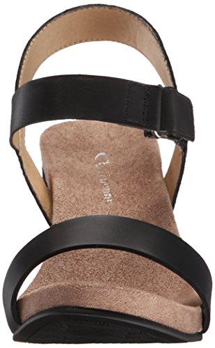 Cl Par Chinese Laundry Tongie Wedge Sandale Noir Bruni