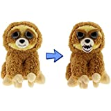 """Feisty Pets: Lightning Bolt Lenny 8.5"""" Plush Stuffed Sloth That Turns Feisty With a Squeeze!"""