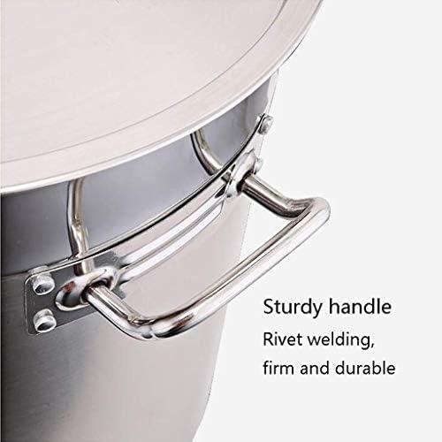 LXD Grande Marmite - Diamètre 35cm - Non Stick Marmite avec couvercle en acier inoxydable - composé Bas