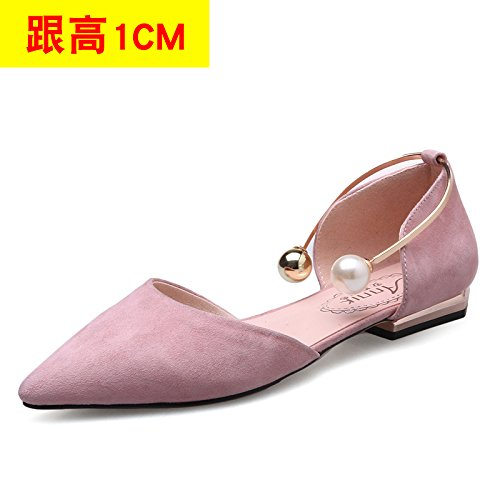 Sandals Sneakers Pink Pearl Heeled High Heeled High VIVIOO Sandals Hollow High Cat Heels Shoes Tip Shoes 1CM Sandals Heeled Women'S Heel Shoessummer Stiletto nx1qcOcI