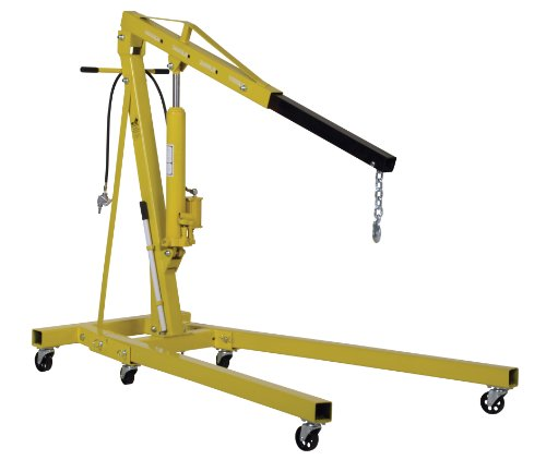 Vestil EHN-40-C-AH Air & Hand Pump Hydraulic Shop Crane44; 4000 lbs by Vestil