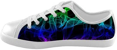Customized Color Light Abstract Smoke New Sneaker Canvas Kids Shoes