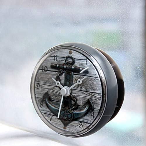 CER0T Ducha impermeable de pared mini reloj ventosa pilas de reloj moderno para Cocina Baño