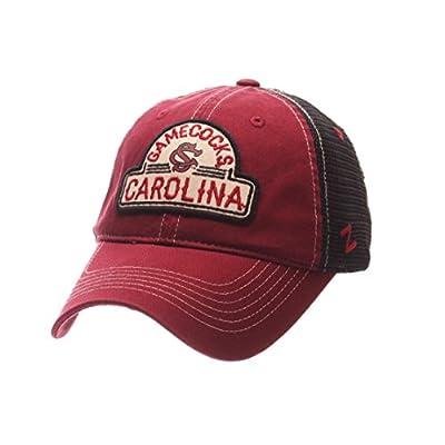Zephyr South Carolina Gamecocks Garnet Route Style Mesh Back Slouch Adj. Hat Cap by Zephyr