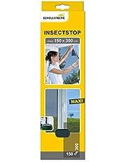 Schellenberg 50325 horrengaas voor grote ramen, houdt muggen en andere insekten buiten, bevestiging zonder boren, zagen of schroeven, 150 x 300 cm, antraciet
