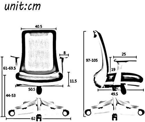 Skrivbordsstolar svängbar stol, hushåll dator stol ergonomisk kontorsstol arbetsrum lyft svängbar stol knästol