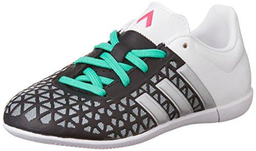 adidas Jungen Ace 15.3 in J Fußballschuhe, Mehrfarbig (Black/Green/White-(Negbas/Plamat/Menimp)), 30