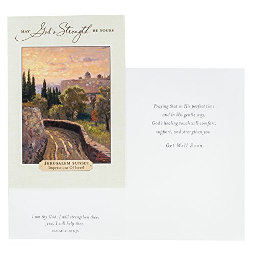 DaySpring Get Well Greeting Cards w Embossed Envelopes - Thomas Kinkade, 12 Count Photo #6