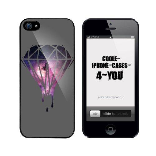 Iphone 5 / 5S Schutzhülle Melting Galaxy Diamond - schwarzer Rahmen
