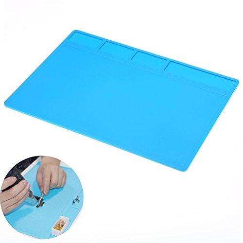 lotus.flower Soldering Mat, Heat Insulation Silicone Mat-Soldering Station Repair Mat-Repair Tools Desk Pad for Soldering Iron, Repairing Phone Computer, Watch and More (28 20 0.5cm)