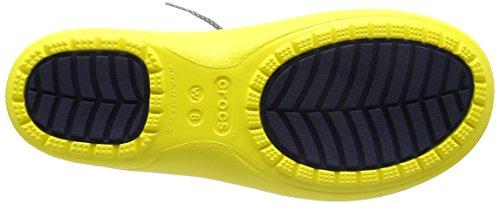 Crocs Fsailshrtrainbt, Bottes Femme Jaune (Lemon)