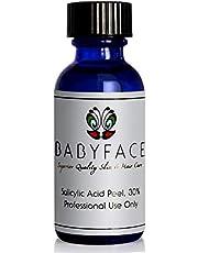 Babyface 30% BHA 30 Beta Hydroxy Salicylic Acid Chemical Peel for Acne Scars, Pock Marks, Skin Resurfacing, Professional Strength, 1.2 oz.