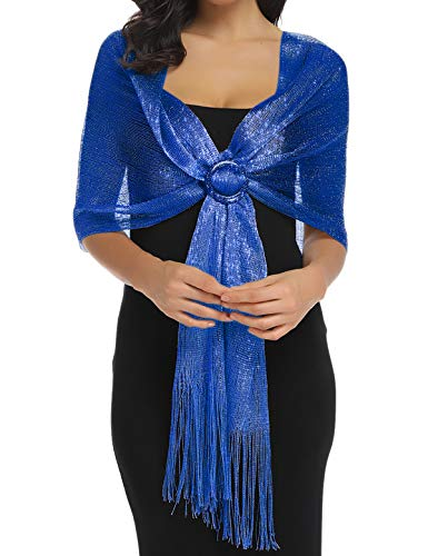 Shawls and Wraps for Evening Wedding Dresses for Women Royal Blue