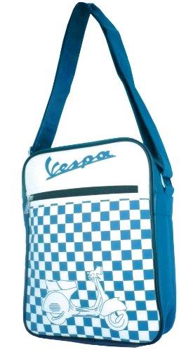 "Cubierta de hombro Forme ""Vespa logo/Chequered, Azul/Blanco a Cuadros, High, 250x 310x 90mm"