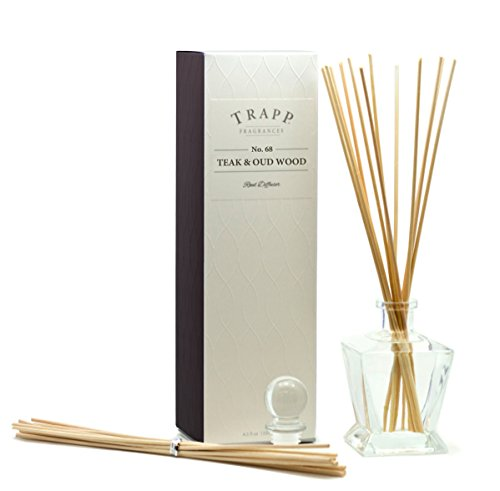 Ambiance Collection - Trapp Ambiance Collection No. 68 Reed Diffuser Kit, Teak & Oud Wood, 4.5-Ounce