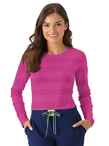 - Modern Fit Collection by Jockey Women's Burnout Long Sleeve T-Shirt X-Small Posh Pink