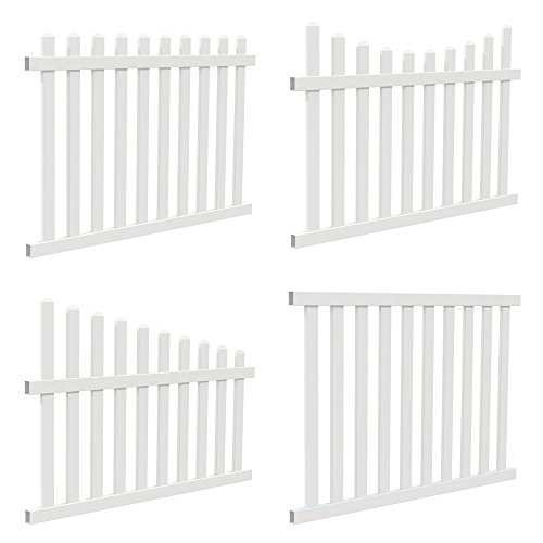 YardSmart® 73024967 4-in-1 Vinyl Fence Kit, White