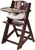 Keekaroo Height Right High Chair Mahogany with Infant Insert and Tray, Vanilla