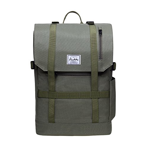 "KAUKKO Casual Daypacks&multipurpose backpacks,Outdoor Backpack,Travel Casual Rucksack,Laptop Backpack Fits 15"" (2green)"