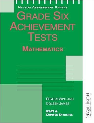 Grade Six Achievement Tests Mathematics Nelson Assessment