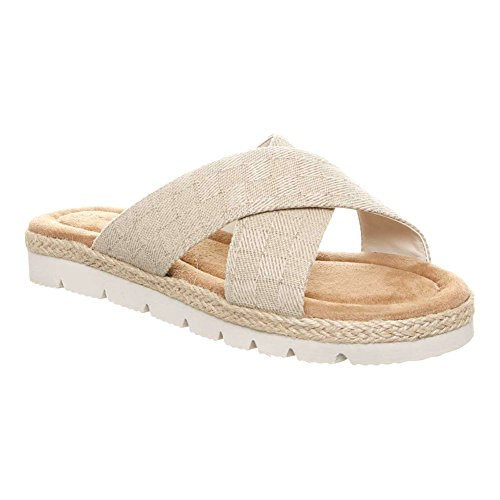 BEARPAW Womens Evelyn Slide Sandals Natural zkekrO